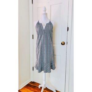 J.Crew | Blue Plaid Print Ruffle Dress